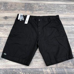 Lacoste black Alligator shorts
